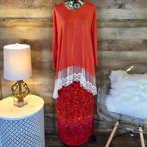 Floral Sigrid Olsen Wrap Maxi Skirt